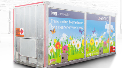 XPERION - delivers first X-STORE CNG container to the united kingdom